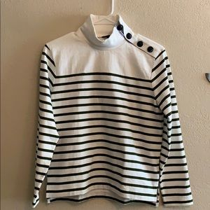 J Crew long sleeve nautical button top